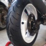 GSF:前後タイヤ交換(F120/60ZR17 R160/60ZR17)
