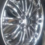 20インチクローム(メッキ)ホイール:タイヤサイズ245/35R20